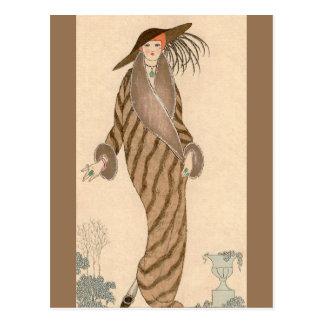Manteau de sable George Barbier Carte Postale