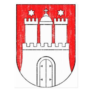 Manteau des bras âgé de Hambourg Carte Postale