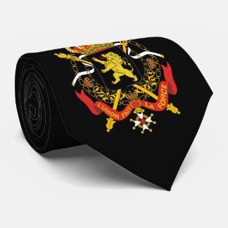 Manteau des bras belge cravate