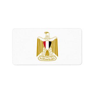 Manteau des bras de l'Egypte, شعارمصر, علممصر, Étiquette D'adresse