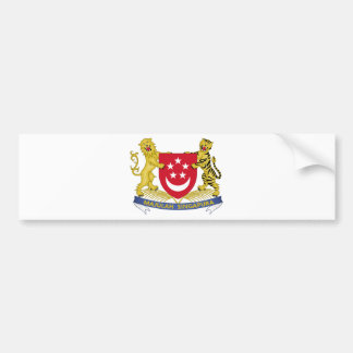 Manteau des bras de l'emblème de 新加坡国徽 de autocollant de voiture