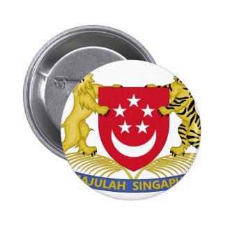 Manteau des bras de l'emblème de 新加坡国徽 de badge rond 5 cm