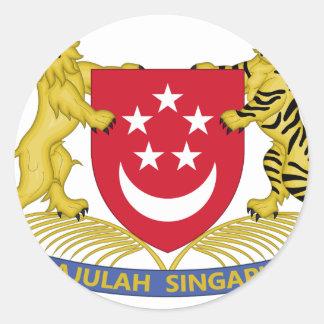 Manteau des bras de l'emblème de 新加坡国徽 de sticker rond