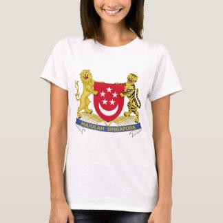 Manteau des bras de l'emblème de 新加坡国徽 de t-shirt