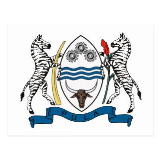 Manteau du Botswana de carte postale de bras