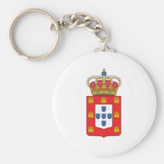 Manteau du Portugal des bras 1830 Porte-clé Rond