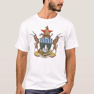 Manteau du Zimbabwe de T-shirt de bras