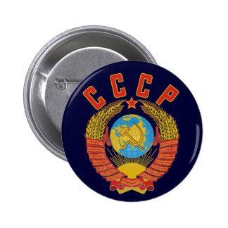 Manteau soviétique de bouton des bras CCCP Badge Rond 5 Cm