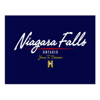 Manuscrit de chutes du Niagara Carte Postale