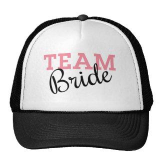 Manuscrit de jeune mariée d'équipe casquettes