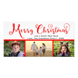 Manuscrit de photo du Joyeux Noël trois - carte