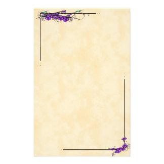 Manuscrits d'orchidée papier à lettre personnalisé