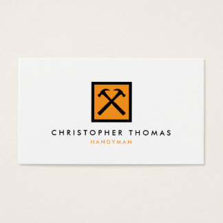 Manusje van alles, Timmerman, Logo van de Hamer Visitekaartjes