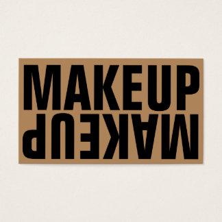 Maquillage de noir d'or de caractères gras cartes de visite