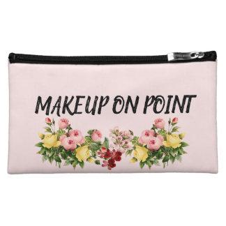 Maquillage sur le sac de cosmétiques de point