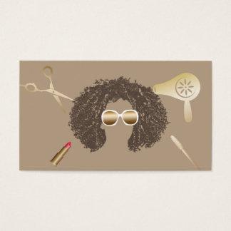 Maquilleur et coiffeur de salon de beauté d'Afro Cartes De Visite