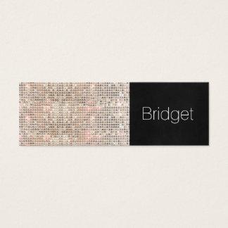 Maquilleur mignon 3 de mode de beauté de mini carte de visite