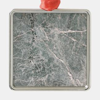 Marble Texture Ornement Carré Argenté