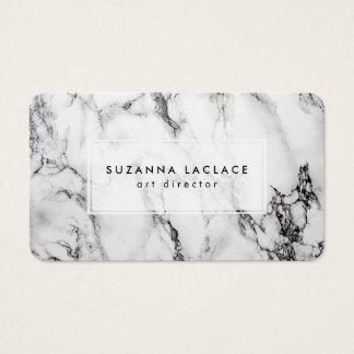 Marbre blanc cartes de visite