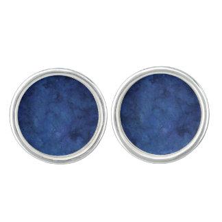 Marbre bleu boutons de manchette