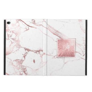 Marbre de PixDezines + Veines roses d'or de Faux Coque Powis iPad Air 2