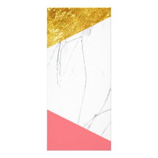 Marbre de saumon d'or blanc doubles cartes