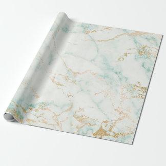 Marbre en bon état de charme d'or vert de blanc papiers cadeaux
