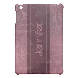 Marbre grunge rose affligé coques iPad mini