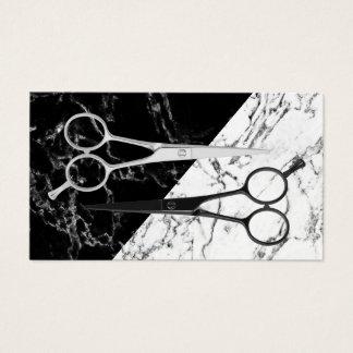 Marbre noir de coiffeur et blanc moderne de cartes de visite