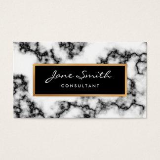 Marbre noir et blanc, feuille d'or de Faux Cartes De Visite