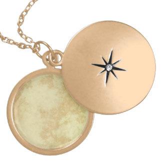 Marbre ou granit texturisé collier plaqué or
