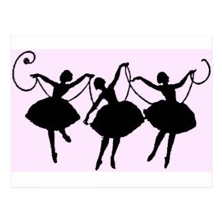 Marchandises de ballet carte postale