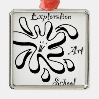 Marchandises d'école d'art d'exploration ornement carré argenté