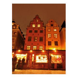 Marché de Noël à Stockholm, Suède Carte Postale