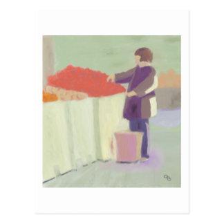 Marché extérieur de achat, carte postale