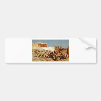 Marché libre, Maroc par seigneur Weeks d'Edwin Autocollant De Voiture