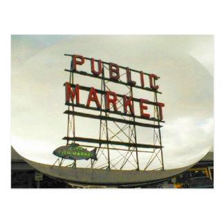 Marché public à Seattle, WA Carte Postale