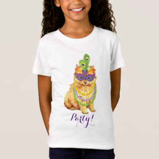 Mardi gras Pomeranian T-Shirt
