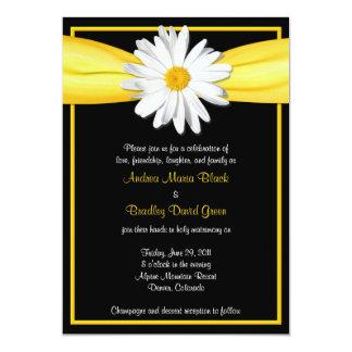 Marguerite de Shasta avec l'invitation jaune de Carton D'invitation 12,7 Cm X 17,78 Cm
