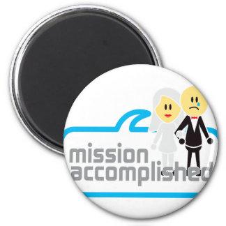 Mariage accompli de mission magnet rond 8 cm
