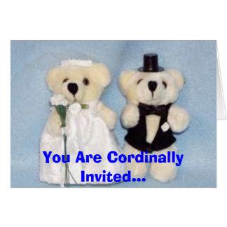 Mariage adorable de Beary Carte De Vœux