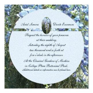 Mariage botanique floral de glycines carton d'invitation  13,33 cm