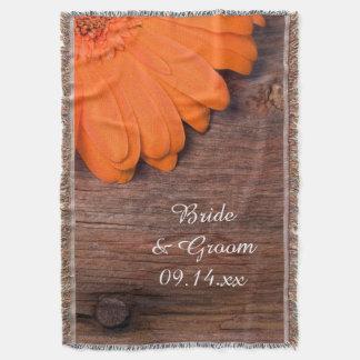 Mariage campagnard rustique de marguerite orange couverture