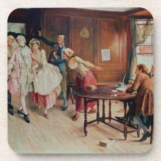 Mariage dans Fleet Street, 1898 (huile sur la toil Dessous-de-verre