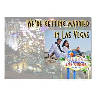 Mariage dans le carte photo de Las Vegas