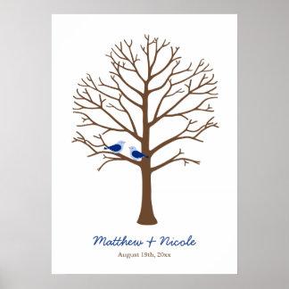 Mariage d'arbre d'empreinte digitale d'oiseaux de