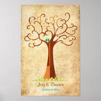 Mariage d'arbre d'empreinte digitale - Heartastic