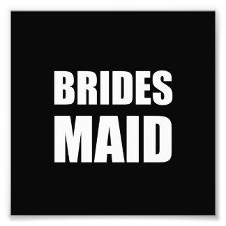 Mariage de domestique de jeunes mariées impression photographique