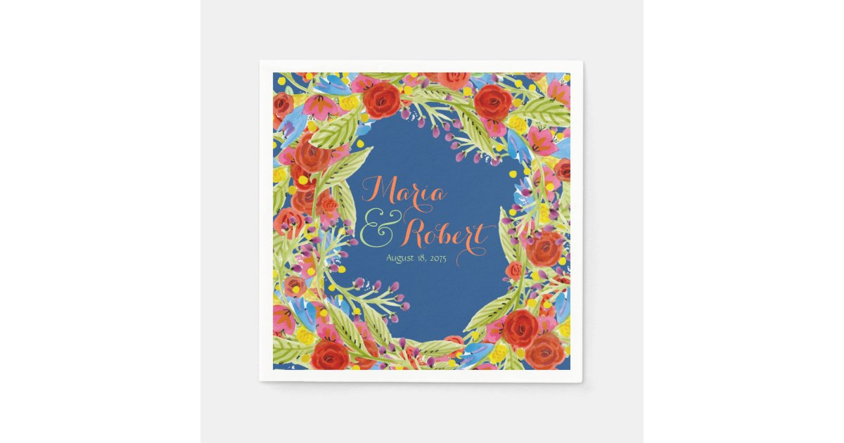 mariage de fiesta serviette jetable zazzle. Black Bedroom Furniture Sets. Home Design Ideas