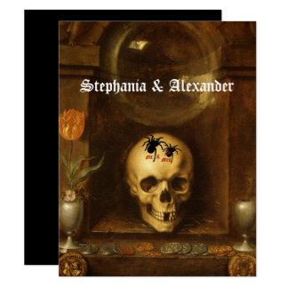 Mariage de Halloween, Goth, crâne, invitation